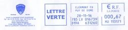 Clermont Foot Auvergne - Football - 63 - France - 2016 - Enveloppe Entière - EMA - Meter -Freistempel - Cover - Soccer