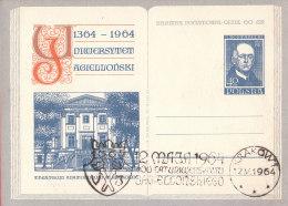 POLAND - 1964.04.27. Cp 250 600 Th Anniversary Of Jagiellonian University - Theatrum Anatomicum - Rostanecki 1
