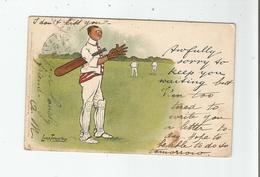 CRICKET ILLUSTRATION LANCE THACKERAY 1904 - Críquet