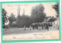 95 SANNOIS. La Gare - Extérieur - Animée - Sannois