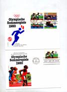 2 Lettre Fdc Jeu Olympique Moscou Carre