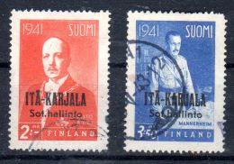 1941; ITA-KARJALA; YT ??, Finladen TP 242 + 244 Surchargé, Oblitéré, Lot 47196