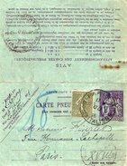 TB 2180 - Entier Postal Type CHAPLAIN - Carte Pneumatique 1F Télégraphe OB PARIS Bd Des Italiens