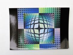 C.P.A. Victor VASARELY : Quasar-Zett - Peintures & Tableaux