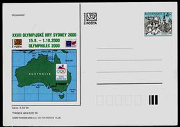555-SLOVAKIA Prepaid Postal Card-with Imprint SYDNEY Olympia Abfahrt Team-departure Of The Team, OLYMPHILEX, 2000