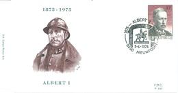 BELGIUM - 5.4.1975 - FDC - ALBERT I  P.443 - COB 1758  -  Lot 15190
