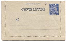ENTIER CARTE LETTRE MERCURE 1 F NEUF
