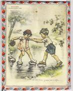 GERMAINE BOURET    Cadre Avec Verre    25 X 18.5 Cm    Enfants    Pub Boucherie Dulac à BELFORT - Bouret, Germaine