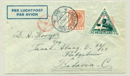 Nederland - 1933 - 6 Cent Veth + 30 Cent LP Per Postjager Naar Batavia / Nederlands Indië