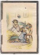 GERMAINE BOURET    Cadre Avec Verre    17 X 12.5 Cm    Enfants Et Ours En Peluche    Au Dos Pub Mercerie Canty à LYON - Bouret, Germaine