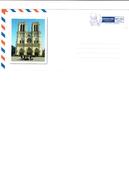 Lettre Entier Postale Neuve FRANCE / PARIS - Cathédrâle Notre Dame - Chiese E Cattedrali