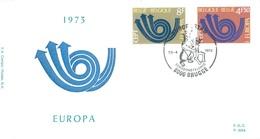 BELGIUM - 28.4.1973 - FDC - EUROPA  P.389a - COB 1669-1670  -  Lot 15191