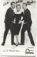 CPSM - LES 3 MENESTRELS - Edition Fontana ( Carte Dedicace) - Singers & Musicians