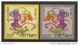 Vietnam (2008) Yv. 2287/88  /  Sourise - Rat - Chinese New Year