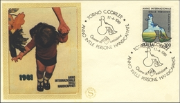 1981 Torino, Italia. FDC. Personas Con Discapacidad. Disabled Persons. Silla De Ruedas. Wheelchair.