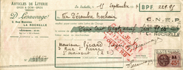 LETTRE DE CHANGE ARTICLES DE LITERIE A LA ROCHELLE - Bills Of Exchange