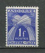 ANDORRE 1943 TAXE N° 24 ** Neuf MNH  Superbes  Cote 1,25 €  Flore Gerbes