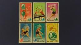 35e CHAMPIONNAT DU MONDE, Tennis De Table - Corée Du Nord 1979 N°1495 à N°1498 + N°?? - Oblitérés