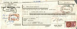 LETTRE  DE CHANGE  FILATURE DE LAINES - Bills Of Exchange