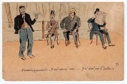 Carte Humoristique. Dessin Original De L'expéditeur De La Carte. (1204) - Humour