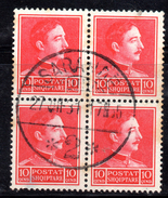 Y381 - ALBANIA 1930 , 10 Q. N. 224 : Quartina Usata - Albania