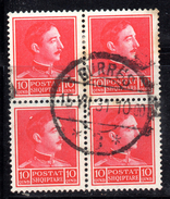 Y423 - ALBANIA 1930 , 10 Q. N. 224 : Quartina Usata - Albania