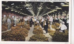 INTERIOR OF A SOUTHERN LOOSE LEAF TOBACCO WAREHOUSE SERIE N. 55786 AUTENTICA 100% - Cartoline