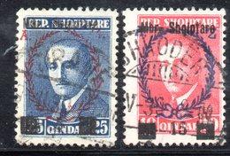 Y372 - ALBANIA 1929 , Due Valori Con Soprastampa . Usati - Albania