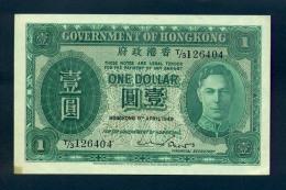 Banconota Hong Kong 1 Dollar 1949 SPL - Hong Kong