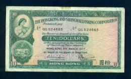 Banconota Hong Kong 1 Dollar 1977 - Hong Kong