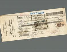 LETTRE DE CHANGE  MANUFACTURE DE FILS A COUDRE  A SAM LEMO - Bills Of Exchange