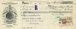 LETTRE DE CHANGE  IMPRIMERIE PAPETERIES REUNIES DE ROANNE - Bills Of Exchange