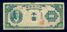 Banconota South Korea 1000 Won 1950 - Corea Del Sud