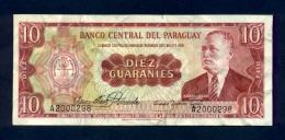 Banconota Paraguay 10 Guaranies 1952 (circolata) - Paraguay