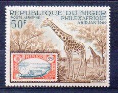 NIGER  Timbre Neuf ** De 1969   ( Ref 4638 ) Animal - Girafe - Niger (1960-...)