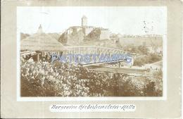 66323 GERMANY HALLE SAJONIA BURGRUINE GIEBICHENSTEIN BRIDGE POSTAL POSTCARD - Allemagne