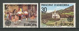 ANDORRE ESPAGNOL 1975 N° 131/132 ** Neufs MNH Superbes EUROPA - Folklore Danses Dances - Spanish Andorra