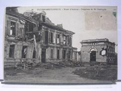 80 - VILLERS BRETONNEUX - ROUTE D'AMIENS - PROPRIETE DE Mr OUTREQUIN - 1921 - Villers Bretonneux