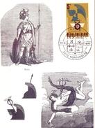 BELGIQUE KORTENBERG MAXIMUN1977 MARS & MERCURIUS (FEB170152) - Personaggi Famosi