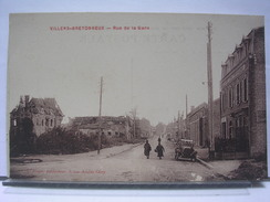 80 - VILLERS BRETONNEUX - RUE DE LA GARE - ANIMEE + AUTOMOBILE - 1923 - Villers Bretonneux