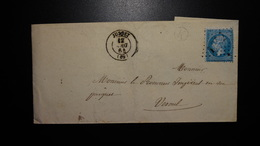 Lettre Enveloppe - GC1902 Sur 20c Bleu Napoléon III N°22 - Année 1864 - 1849-1876: Classic Period