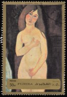 FUJEIRA - YW0531 Vénus By Amedeo Modigliani / Used Stamp - Nudi