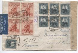 Spain Registered Air Mail Cover 1938 Republican Censor To France Nemours Arrival Canc.PR3944 - 1931-Aujourd'hui: II. République - ....Juan Carlos I