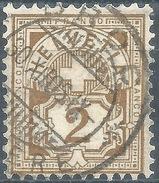 Ziffer 58B, 2 Rp.hellolivbraun  BROC GRUYERE          1906