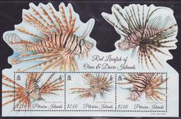Pitcairn Island 2015 Lionfish Minisheet, MNH