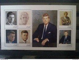 JOHN F. KENNEDY BLOC GUYANA(2) NEUF** DEPART 1 EURO