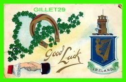 IRLANDE - GOOD LUCK FROM IRELAND - FER À CHEVAL - ÉCUSSON - N.P.0, SHAMROCK SERIES No 16 - - Irlande