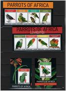 SIERRA LEONE   2013  Birds, Parrots  2  Sheetlets+ 2 SS Imperf. Rare!