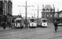 ROUBAIX / 59 / TRAMWAY / E.L.R.T  PLACE DE LA GARE  1953   DOCUMENT PHOTO  9 X 14  DOS BLANC - Roubaix