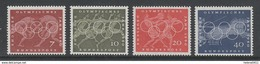 SERIE NEUVE D´ALLEMAGNE FEDERALE - JEUX OLYMPIQUES DE ROME 1960 N° Y&T 205 A 208